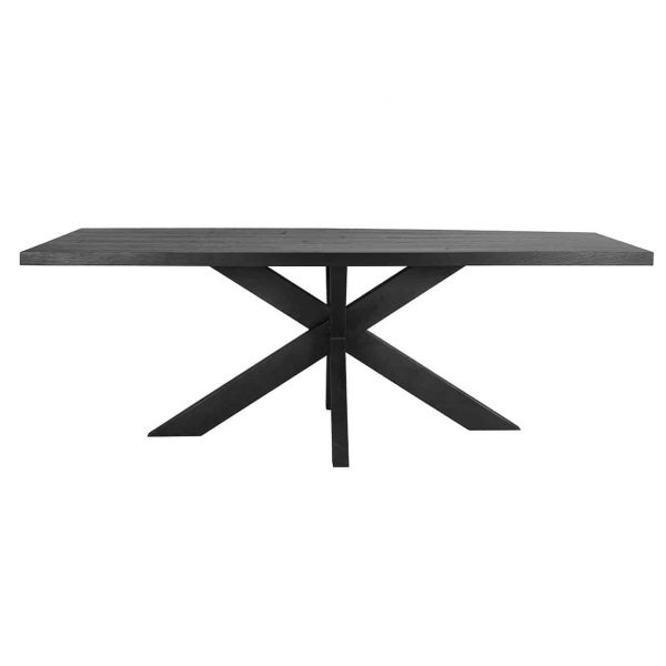 6507 TOP BLACK - Eettafel TOP Oakura 230x95 (Zwart)