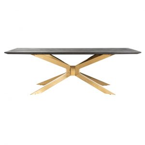7467 - Eettafel Blackbone Matrix gold 240x100 (Goud)